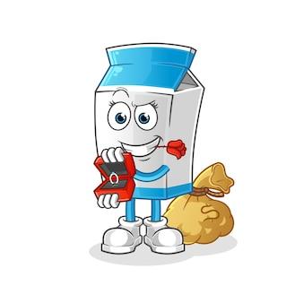 Молоко предлагает и держит талисман в виде кольца