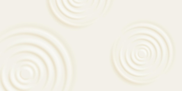 Milk ripple background. cosmetic cream or shampoo with concentric circles on surface