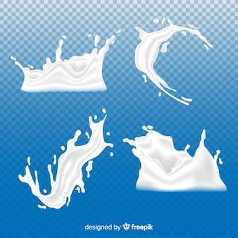 Milk splash collection