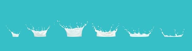 ミルクしぶきシーケンスアニメーションスプライトシートドリップ