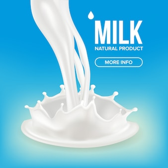 Milk splash баннер