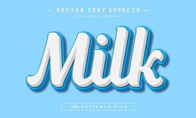 우유 텍스트 효과 템플릿