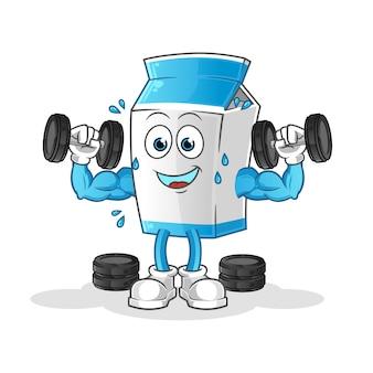 牛乳ウエイトトレーニング漫画のマスコット