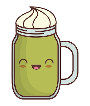 Milkshake kawaii icon image