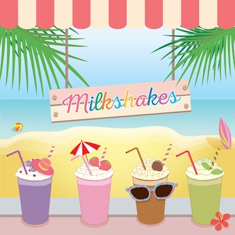 Milkshakes beach summer