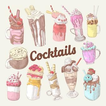 Milkshakes and ice cream collection