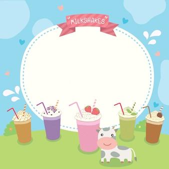 Milkshakes template.