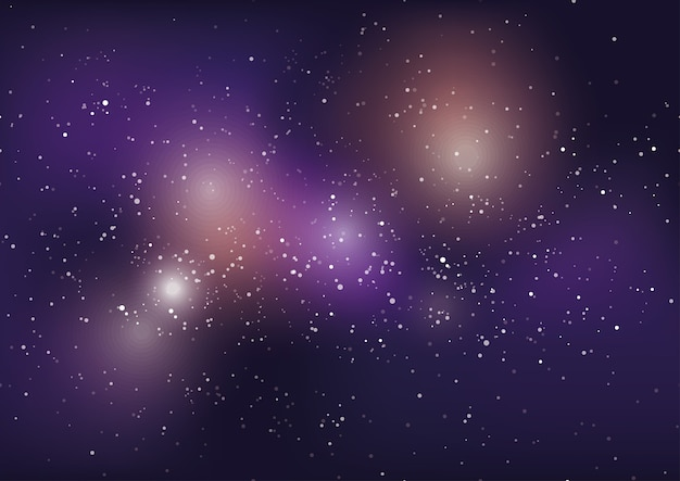 星と星雲と天の川銀河の背景。