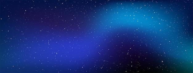 Галактика млечный путь в бесконечном пространстве, звездная ночь с блестящими звездами в градиентном небе