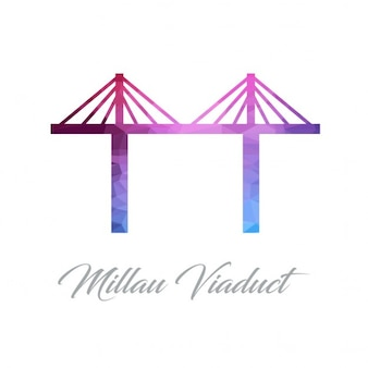 Millan viaduct, polygonal
