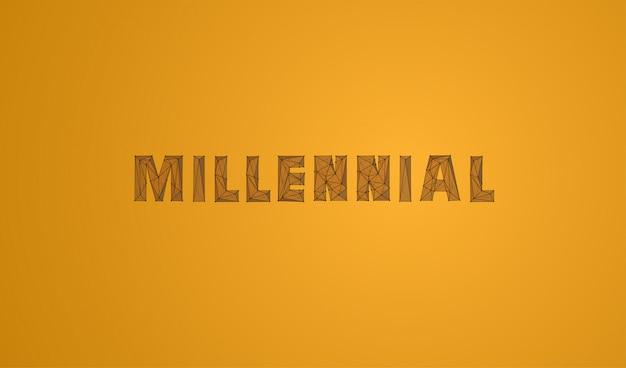 Millennial светящийся низкополигональная иллюстрация
