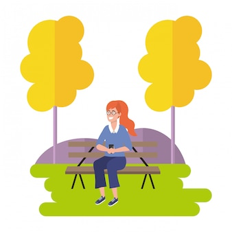 Тысячелетнее сидение на скамейке в парке на открытом воздухе