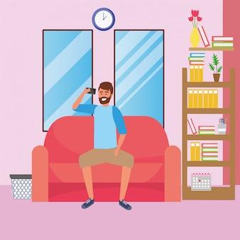 Millennial student dorm room