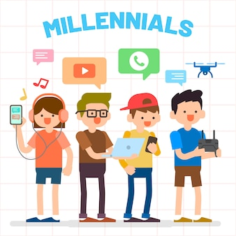 Millennials illustration