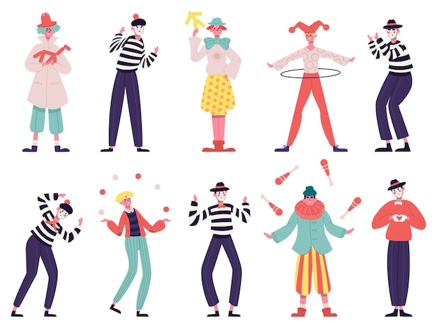 Mimes and clowns