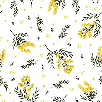 미모사 꽃 원활한 패턴