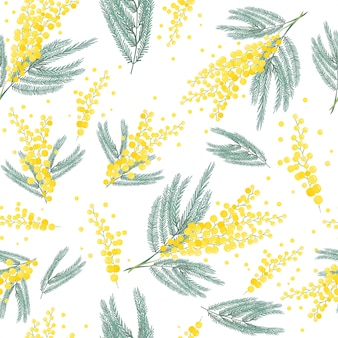 ミモザの花の背景。