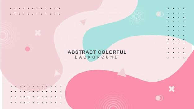Красочный дизайн фона mimphis вектор