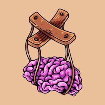 Элемент иллюстрации персонажа управления разумом