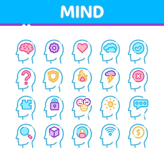 Mind icons collection