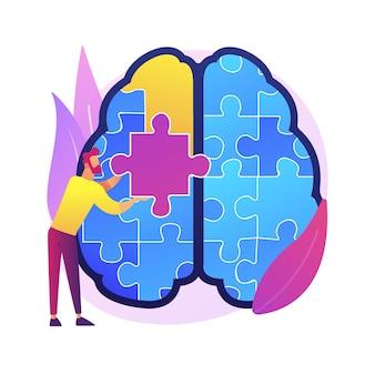 Mindfulness 추상적 인 개념 그림입니다. 마음 챙김 명상, 정신적 평온 및 자의식, 집중 및 스트레스 해소, 불안 대체 가정 치료.