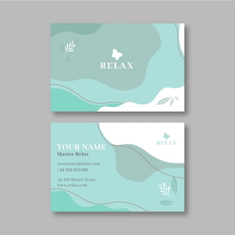 Mindfulness business card template