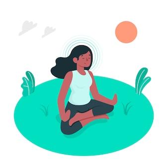 Mindfulness concept illustration
