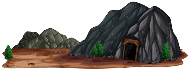 A mine stone in nature