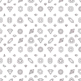 Miner stones vector seamless pattern