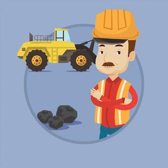 Miner with a big excavator