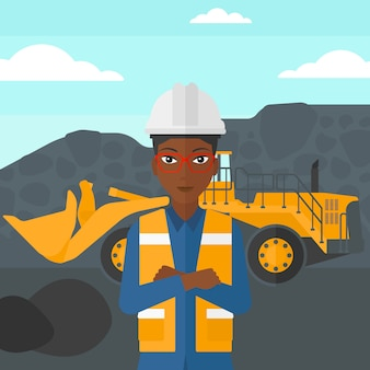 Miner with mining equipment on