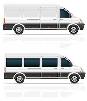 Mini bus for the carriage of cargo and passengers.