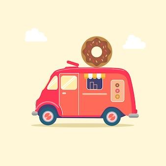 Mini Donut Food Truck Illustration