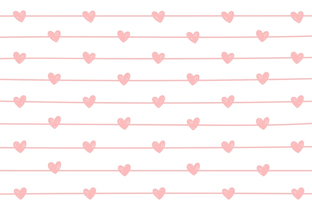 Mini heart and line background.