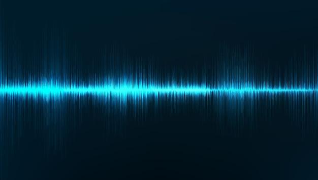미니 사운드 웨이브 배경, 지진 파 다이어그램 개념.