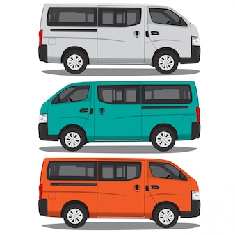 Minibus vector illustration isolated on white background full editable format