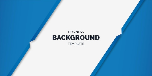 Minima business template with abstract geometric blue shapes
