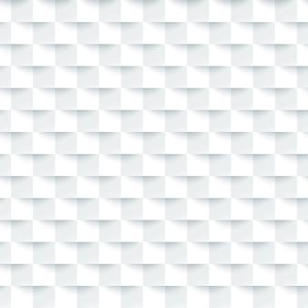 最小限の3 dの白い正方形のシームレスなタイルパターン