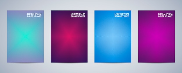 Minimal abstract background design set