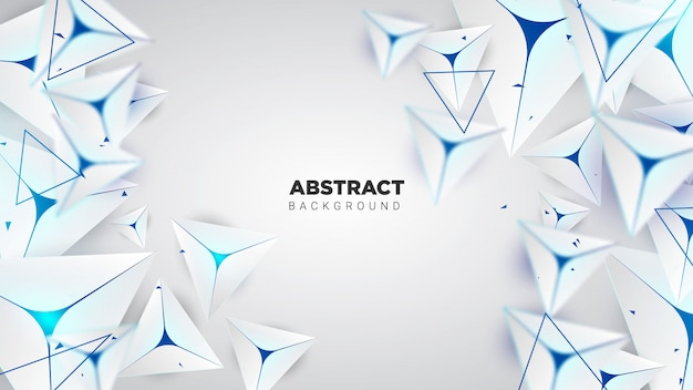 Minimal abstract background with a triangle shape