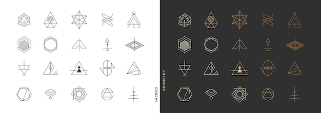 Minimal abstract geometric symbol collection
