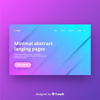 Minimal abstract landing page