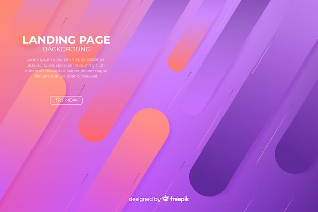 Minimal abstract landing page