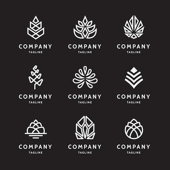 Minimal abstract pine cone logo Premium Vector