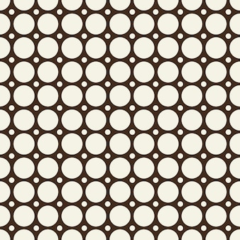 Minimal abstract seamless black and white pattern