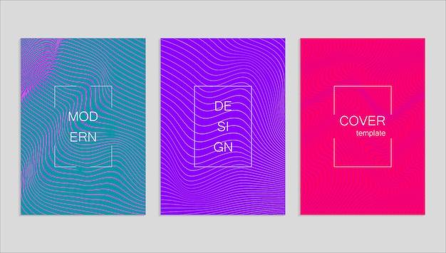 最小限の抽象的なベクトルハーフトーンカバーデザイン。将来の幾何学的なテンプレート。
