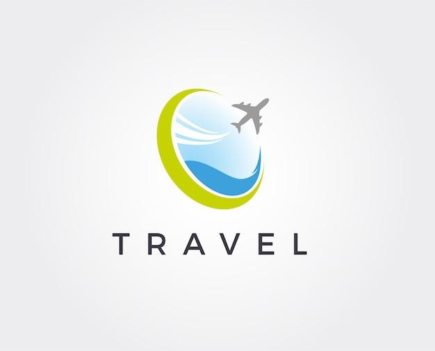 Minimal air traval logo template