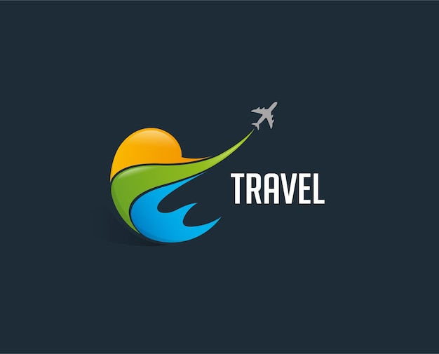 Minimal air travel logo template