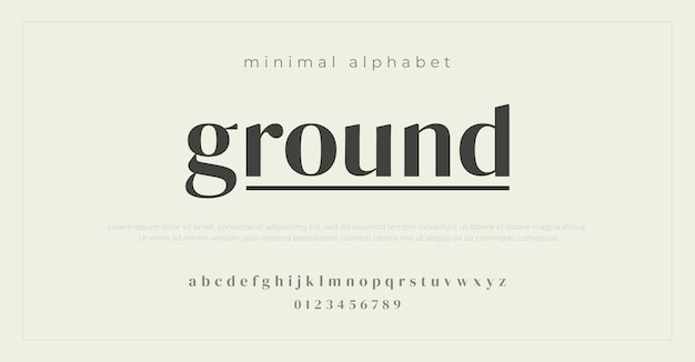 최소 알파벳 글꼴.