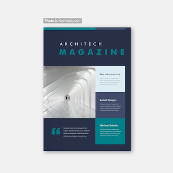 ミニマル建築パンフレット&マガジンカバーデザイン